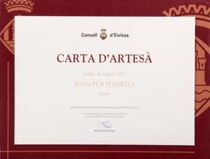 Carta Artesana juJuan Fluxa